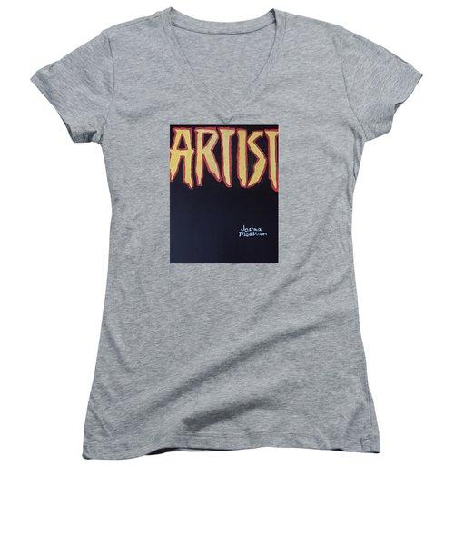 Artist 2009 Movie Women's V-Neck T-Shirt (Junior Cut) by Joshua Maddison