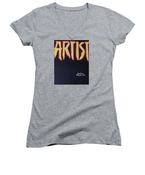 Artist 2009 Movie Women's V-Neck T-Shirt
