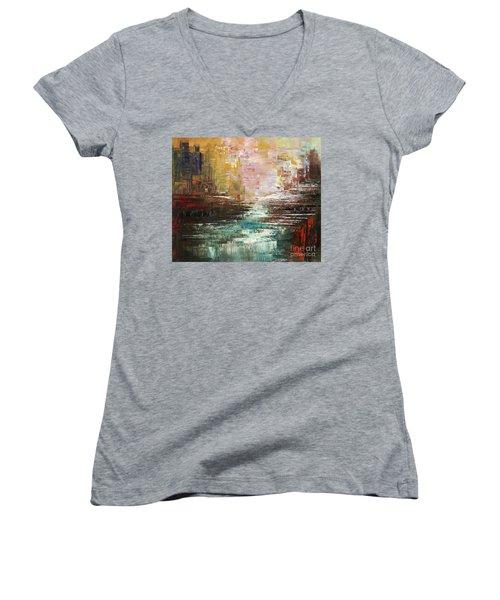 Artist Whitewater Women's V-Neck T-Shirt