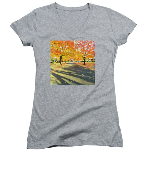 Women's V-Neck featuring the photograph Artistic Tulsa Street by Robert Knight