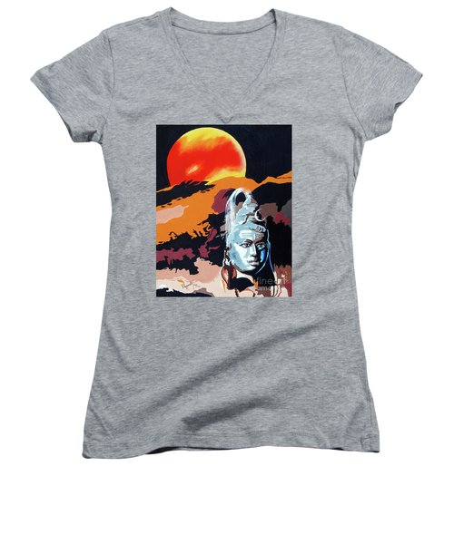 Artistic Vision Of The Almighty Women's V-Neck (Athletic Fit)