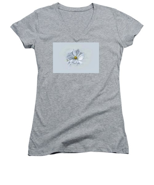 Artistic White #g1 Women's V-Neck T-Shirt (Junior Cut) by Leif Sohlman