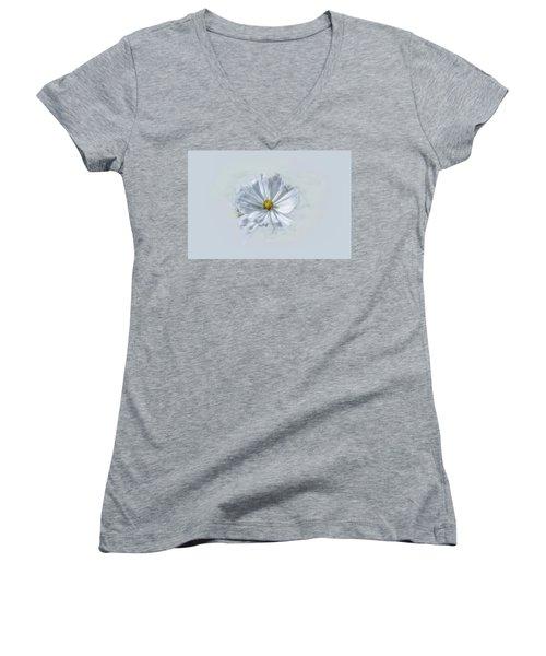 Artistic White #g1 Women's V-Neck T-Shirt (Junior Cut)