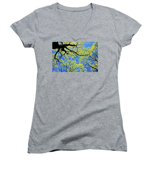 Artsy Tree Canopy Series, Early Spring - # 03 Women's V-Neck