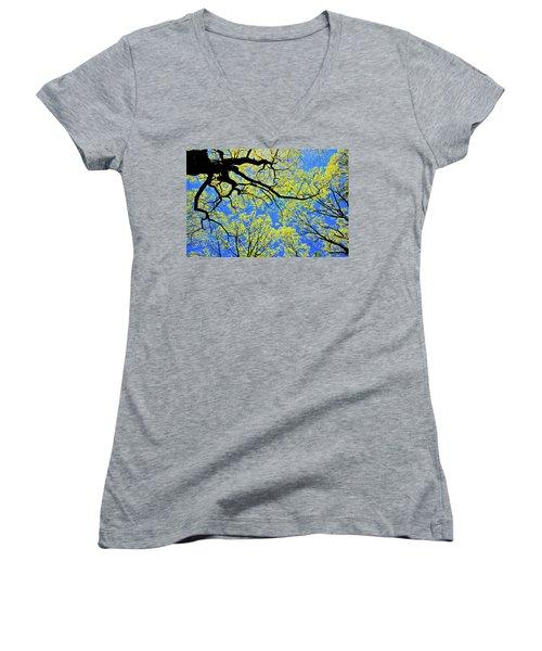 Artsy Tree Canopy Series, Early Spring - # 03 Women's V-Neck