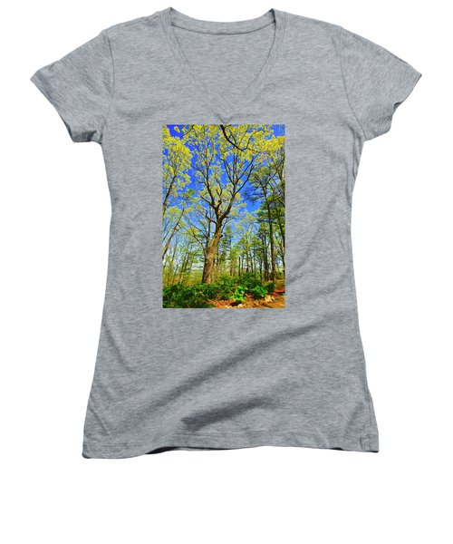 Artsy Tree Series, Early Spring - # 04 Women's V-Neck
