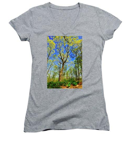 Artsy Tree Series, Early Spring - # 04 Women's V-Neck