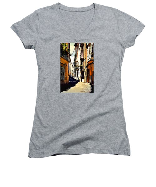 Artwork Palma De Mallorca Spain Women's V-Neck (Athletic Fit)