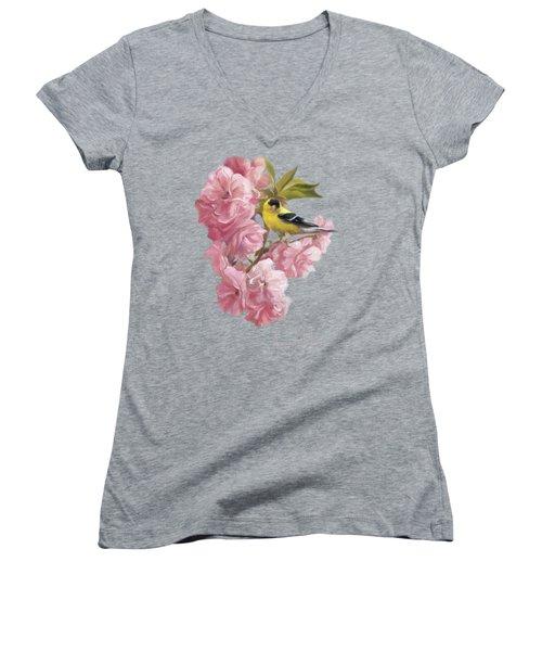 Spring Blossoms Women's V-Neck