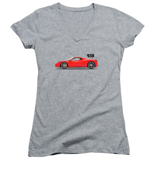 Ferrari 458 Italia Women's V-Neck T-Shirt