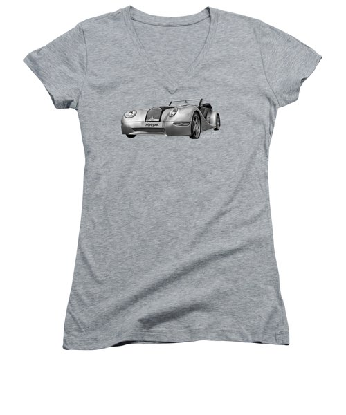 Women's V-Neck T-Shirt (Junior Cut) featuring the photograph Morgan by Scott Carruthers