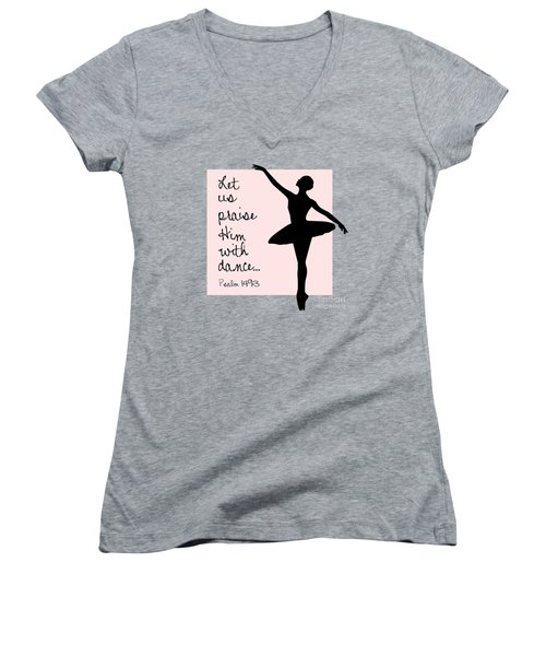 Ballerina Praise Women's V-Neck
