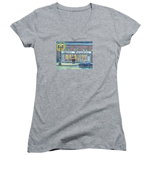 Griff Valentines' Birthday Women's V-Neck T-Shirt