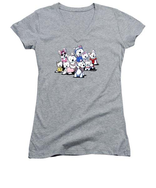 International Westie Women Women's V-Neck T-Shirt