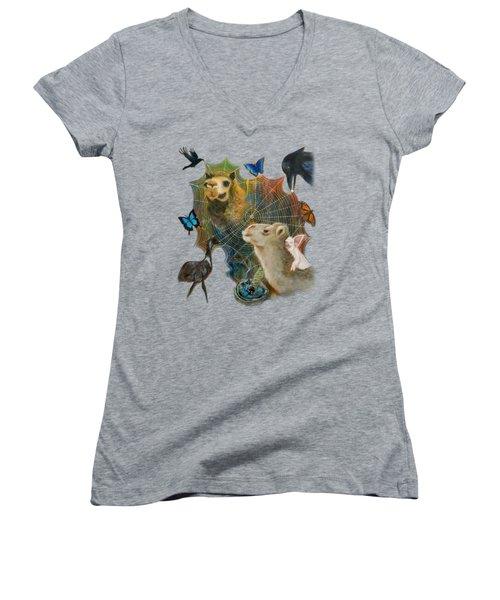 Sacred Journey Women's V-Neck T-Shirt (Junior Cut) by Deborha Kerr
