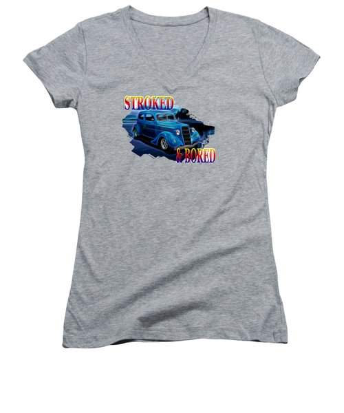 1935 Ford 2-door Sedan Women's V-Neck T-Shirt
