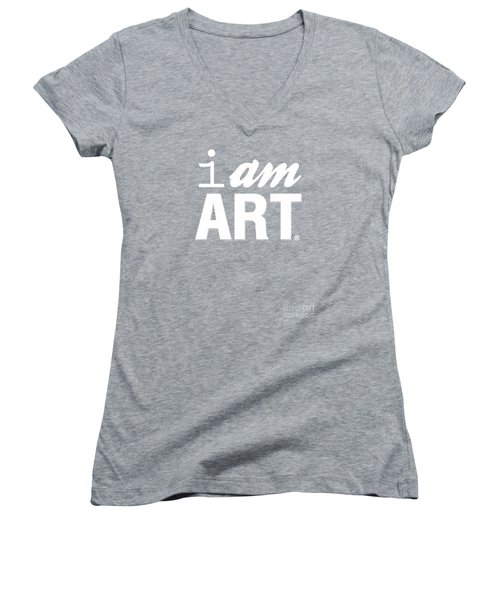 Women's V-Neck T-Shirt (Junior Cut) featuring the digital art I Am Art- Shirt by Linda Woods
