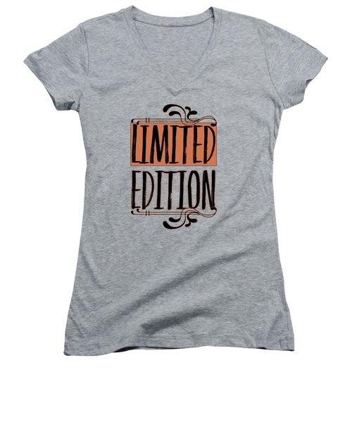 Limited Edition Women's V-Neck T-Shirt (Junior Cut) by Melanie Viola
