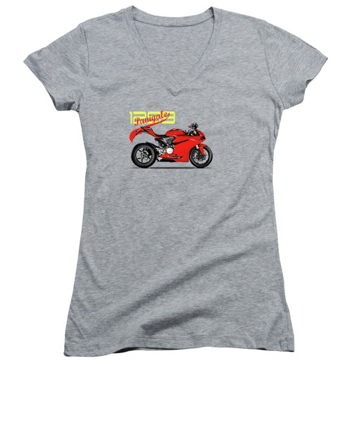 Ducati Panigale 1299 Women's V-Neck (Athletic Fit)