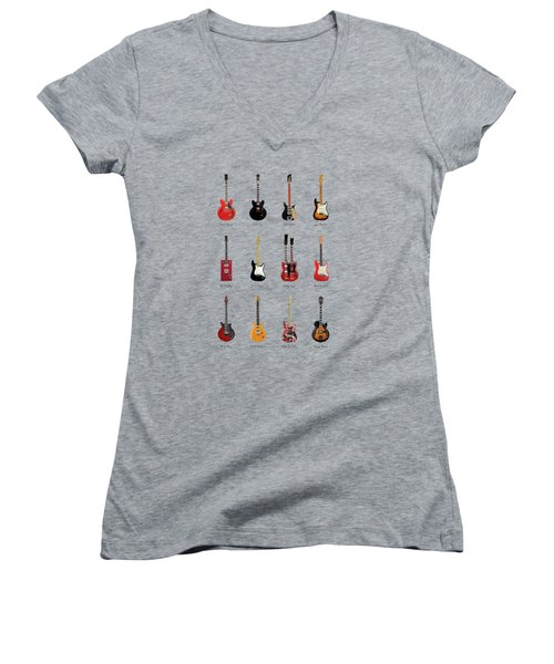 Guitar Icons No1 Women's V-Neck T-Shirt