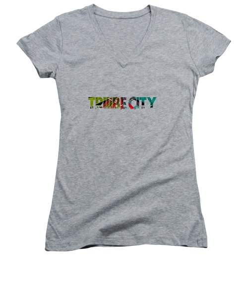 Tribe Lives Women's V-Neck (Athletic Fit)