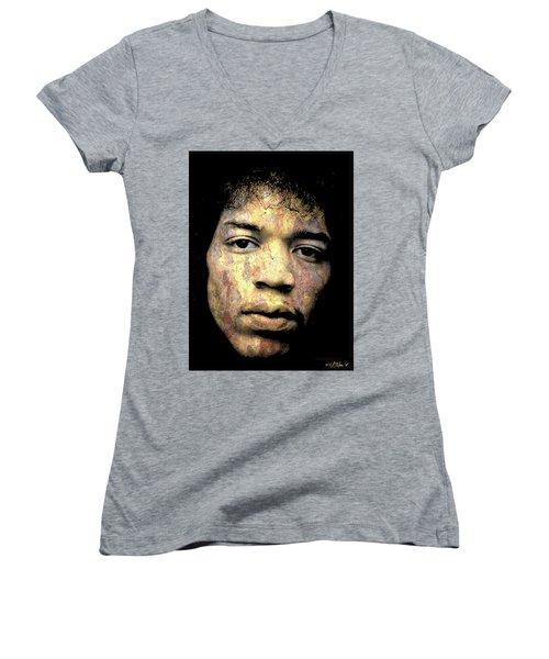 Jimi Hendrix Women's V-Neck