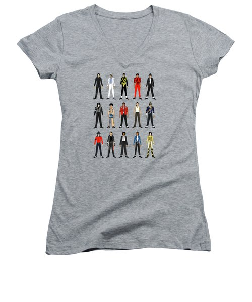 Outfits Of Michael Jackson Women's V-Neck (Athletic Fit)