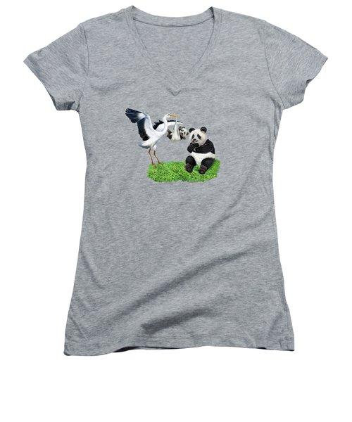 Bundle Of Joy Women's V-Neck T-Shirt (Junior Cut) by Glenn Holbrook