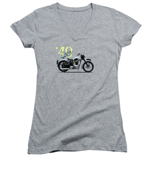 The Tiger 100 1949 Women's V-Neck (Athletic Fit)
