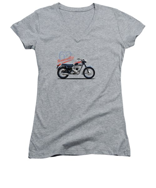 Bonneville T120 1962 Women's V-Neck (Athletic Fit)