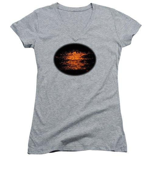 Shimmer Women's V-Neck T-Shirt (Junior Cut) by Linda Hollis