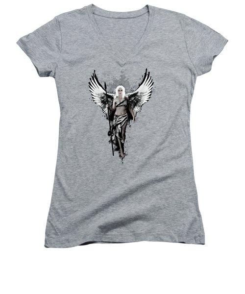 Valkyrja Women's V-Neck T-Shirt (Junior Cut) by Nicklas Gustafsson