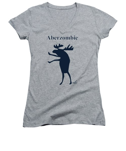 Aberzombie Women's V-Neck T-Shirt