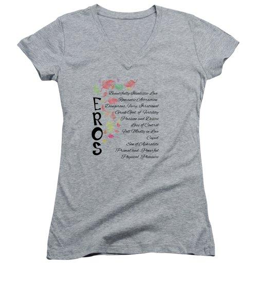 Eros-words Of Love Women's V-Neck T-Shirt