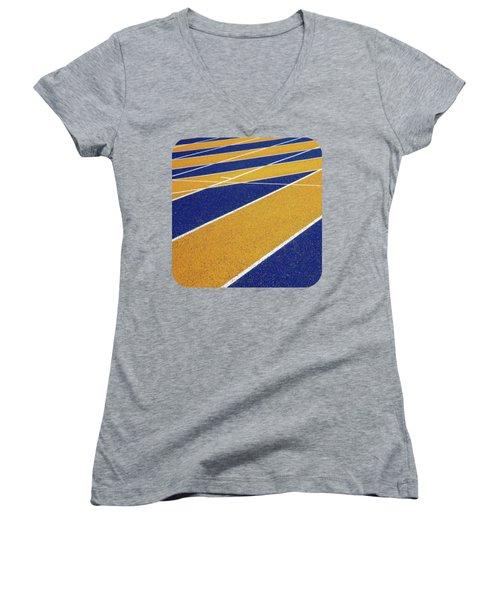 On Track Women's V-Neck T-Shirt (Junior Cut) by Ethna Gillespie