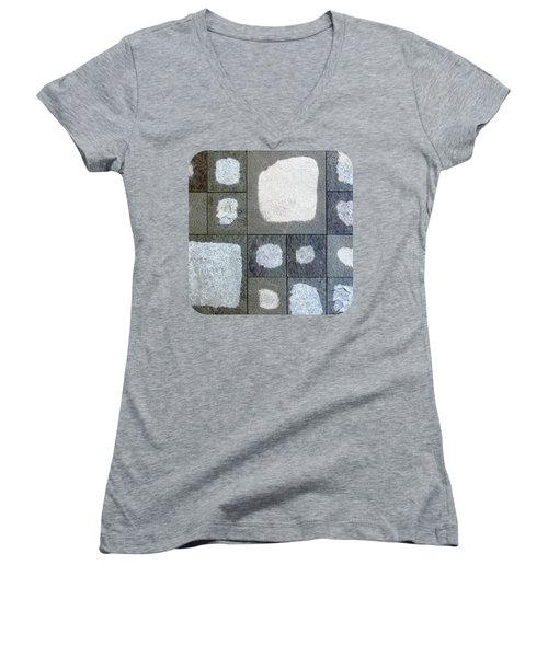 While We Were Having Lunch It Rained Women's V-Neck T-Shirt (Junior Cut) by Ethna Gillespie