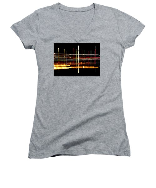 Women's V-Neck T-Shirt (Junior Cut) featuring the photograph Cosmic Avenues by Bill Kesler