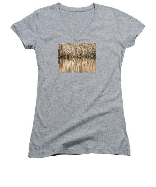 Golden Reed Reflection Women's V-Neck T-Shirt