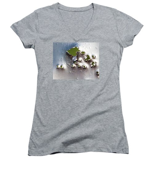 Women's V-Neck T-Shirt (Junior Cut) featuring the photograph Dimpled And Ripped by Bill Kesler