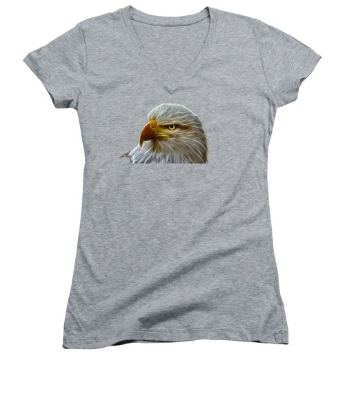 Glowing Eagle Women's V-Neck (Athletic Fit)