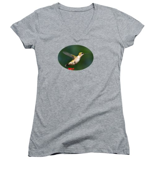 Summer Hummingbird Women's V-Neck T-Shirt