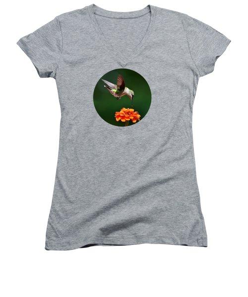 Hummingbird Bullseye Women's V-Neck T-Shirt