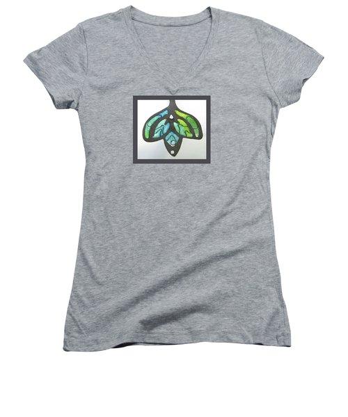 1188 A La Tiffany Women's V-Neck T-Shirt (Junior Cut) by Dianne Brooks