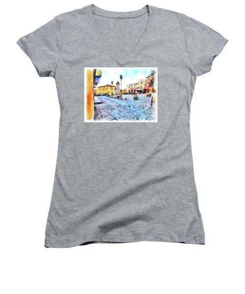Arzachena Risorgimento Square Women's V-Neck T-Shirt