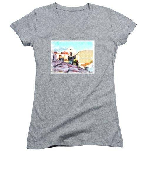 Arzachenaroof And Church Women's V-Neck T-Shirt