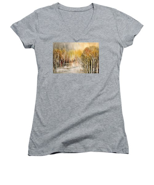 As A Dream Women's V-Neck T-Shirt (Junior Cut) by Tatiana Iliina