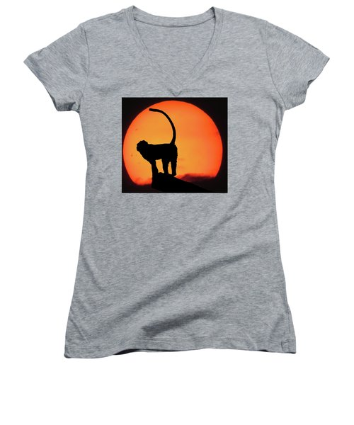 As The Day Ends Women's V-Neck T-Shirt