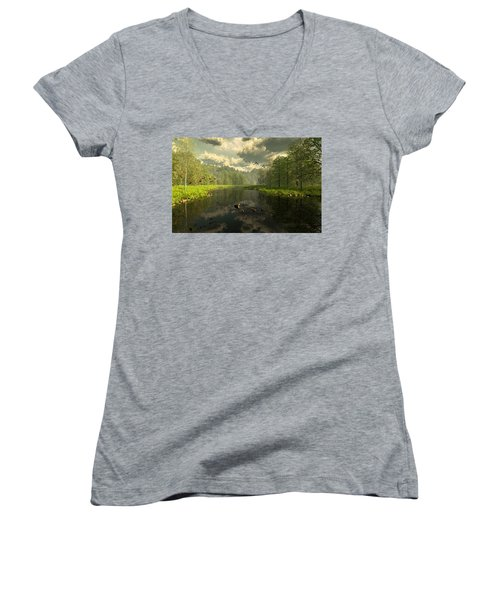 As The River Flows Women's V-Neck