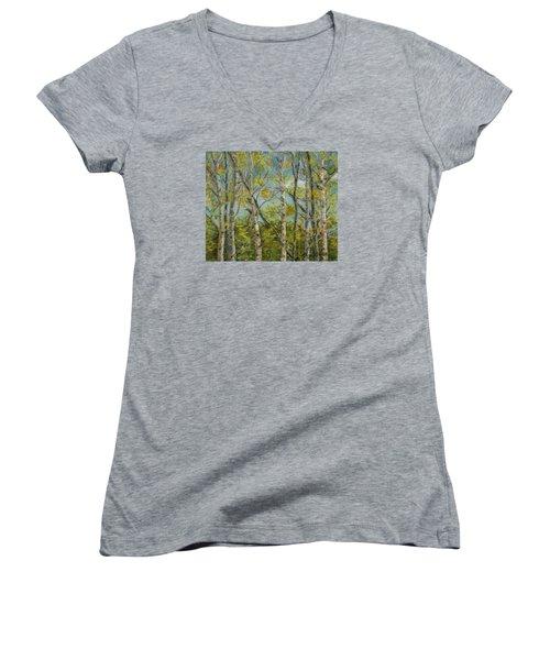 Aspen Glow Women's V-Neck T-Shirt