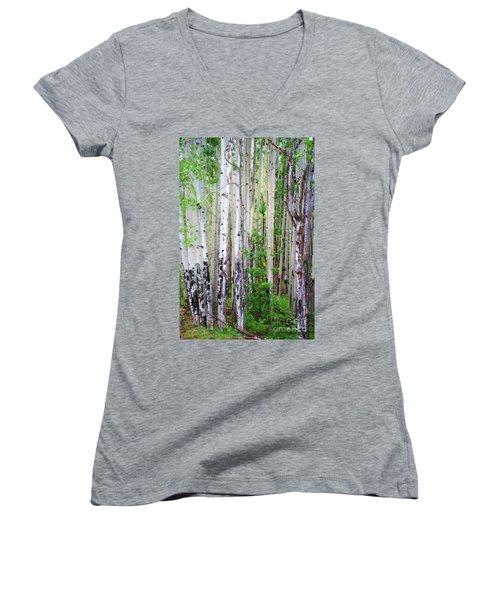 Aspen Grove In The White Mountains Women's V-Neck